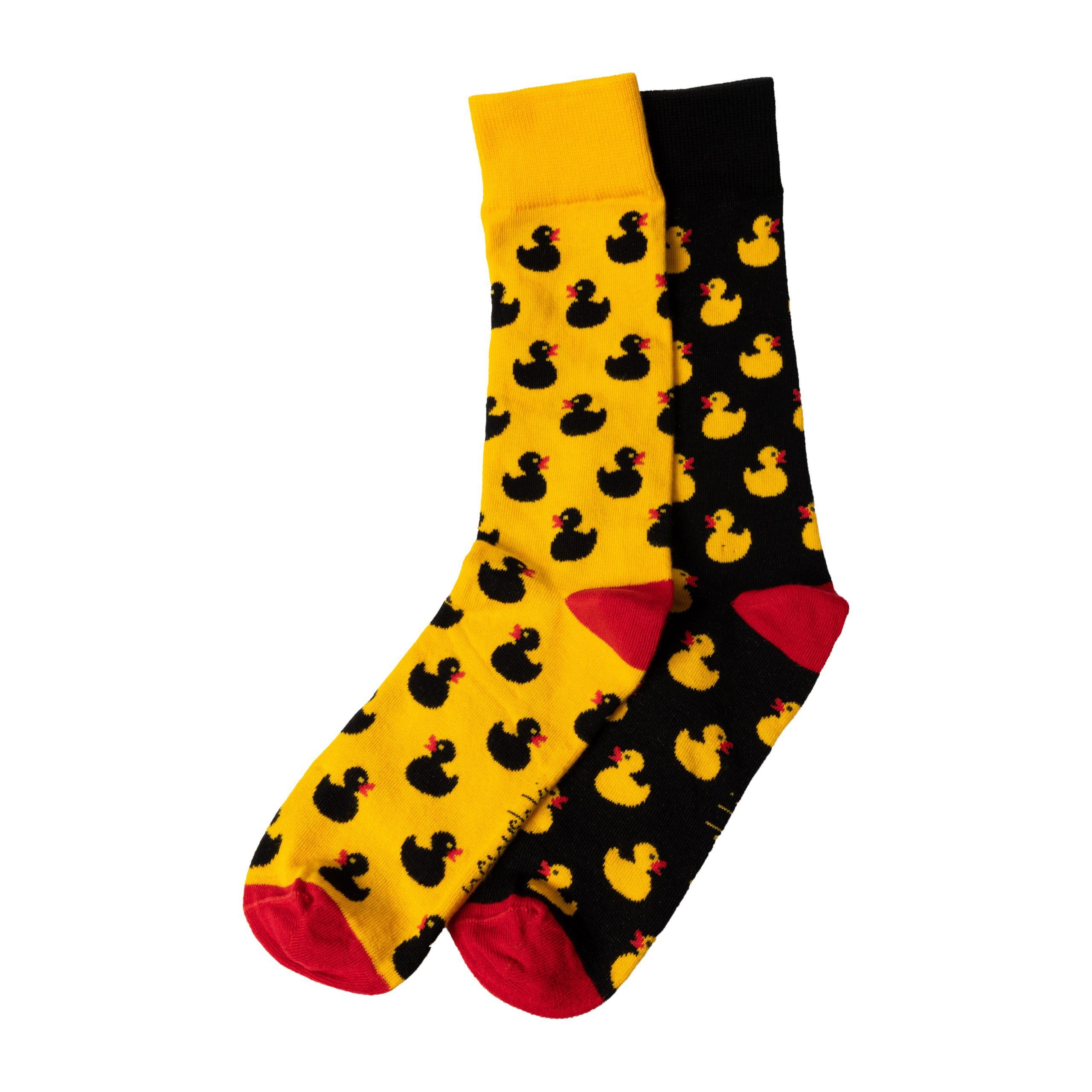Duck You Yellow and black socks